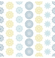 Yellow gray abstract mandalas striped seamless vector image