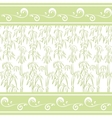 Contour bamboo and abstract pattern vector image vector image