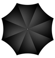 black umbrella vector image