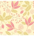 Flowers and berries seamless pattern background vector image vector image