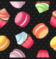 macaroons seamless pattern vector image