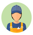 set car icons repair avatar a man and a woman vector image
