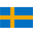 swedish flag vector image vector image