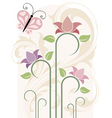 card with flowers illustration in vector vector image vector image