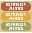 Vintage Buenos Aires stamp set vector image