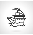 Simple line icon for ship vector image