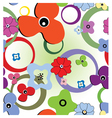 seamless abstract flowers vector image