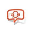 Dollar-rouble trade message sticker orange vector image