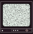 an old television with noise for your creativity vector image