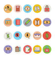 Business and Office Colored Icons 6 vector image