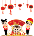 Chinese New Year of Monkey isolated on white vector image