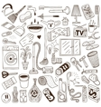 cleaning house - doodles vector image
