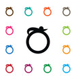 isolated ring icon jewelry element can be vector image
