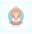 Maid waitress servant icon Avatar and person vector image