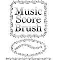 music score brush vector image