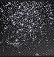 silver glittering star dust vector image