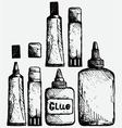 Glue icon set vector image vector image