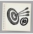 Target mission doodle vector image vector image
