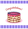 Congratulations Cake Banner Postcard Greeting Card vector image