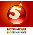 Ultimate set of alphabet font symbols on Christmas vector image