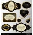 Retro golden label vector image