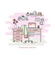 Feminine workplace room interior vector image