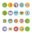 Business and Office Colored Icons 9 vector image