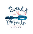 beauty salon logo make up original logo design vector image
