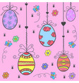 doodle of easter egg colorful style vector image
