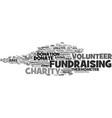 fundraising word cloud concept vector image