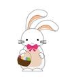 Happy easter bunny cartoon isolated icon vector image