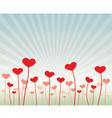 Love flowers vector image