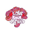 love letter cute valentines day card handwritten vector image