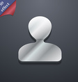 male silhouette icon symbol 3D style Trendy modern vector image