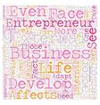 Personal development entrepreneur business 1 text vector image