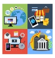 Set of concept icons for web business vector image
