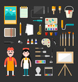 Set of Icons and in Flat Design Style Male and vector image