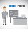 Smart Employment Character and His Work table vector image
