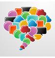 Social media bubbles in communication speech vector image