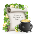 St Patricks Day poster design vector image