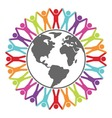 people around the world vector image