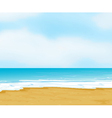 an ocean and a beach vector image vector image