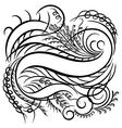 calligraphy line vector image
