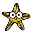 happy star cartoon icon vector image