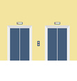 Two Closed Doors Elevator vector image