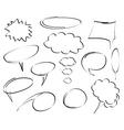 hand drawn dialog bubbles vector vector image