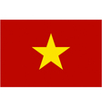 vietnamese flag vector image vector image