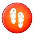 Beach thongs icon flat style vector image