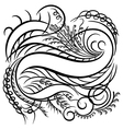 calligraphy line vector image