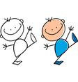 cartoon cute happy little boy vector image
